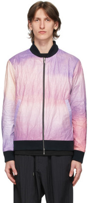 Fumito Ganryu Multicolor Ventilation Waterproof Bomber Jacket