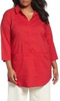 Eileen Fisher Plus Size Women's Organic Linen Blend Tunic