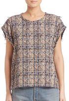IRO Eline Silk-Blend Tweed Top