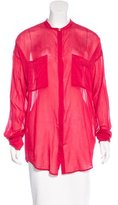 Giada Forte Silk-Blend Button-Up Top w/ Tags