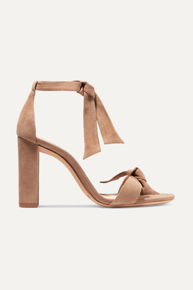 Alexandre Birman Clarita Bow-embellished Suede Sandals - Beige