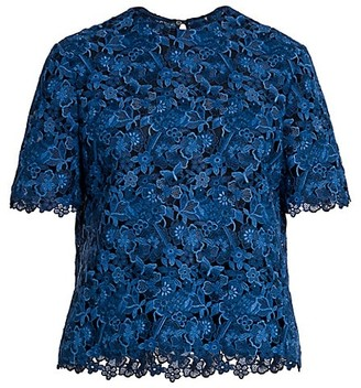 Valentino Sheer Floral Lace Top