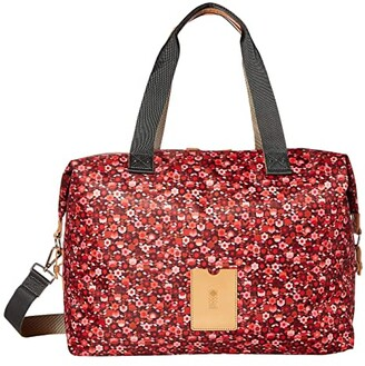 Orla Kiely Stem Garden Print Large Zip Holdall (Berry) Duffel Bags