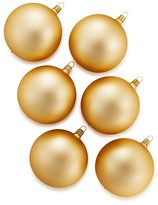 Bloomingdale's Gold Glass Ball Ornaments, Set of 6