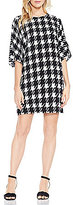 Vince Camuto Graphic Houndstooth Dolman Dress