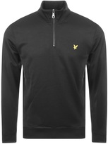 Lyle & Scott Tricot Half Zip Track Top Black