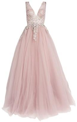 Jovani Embellished Floral Gown