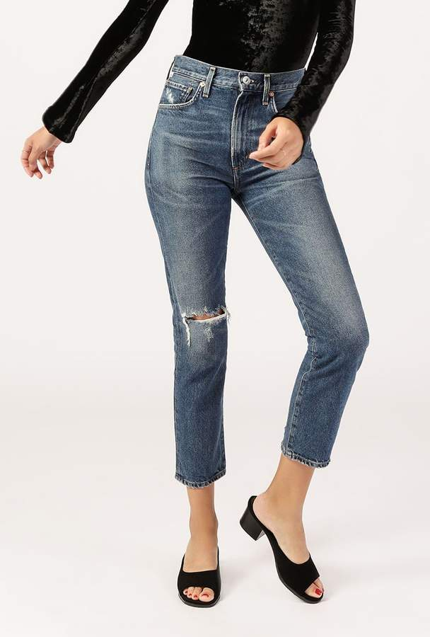 Citizens of Humanity Dree Crop High Rise Zip Jean
