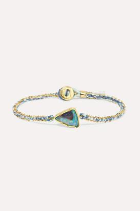 Brooke Gregson Ellipse 18-karat Gold, Silk And Opal Bracelet