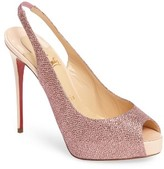 Christian Louboutin Women's Private Number Peep Toe Pump
