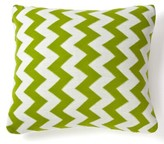 """Amity Home Zig Zag Indoor/Outdoor Cotton Throw Pillow Color: Lime Green, Size: 20"""" x 20"""""""