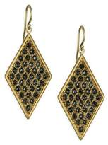 Black Diamonds & 18K Yellow Gold Drop Earrings