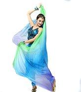 GOOTRADES Women Chiffon Belly Dance Shawl Veil Scarf Gradient Color