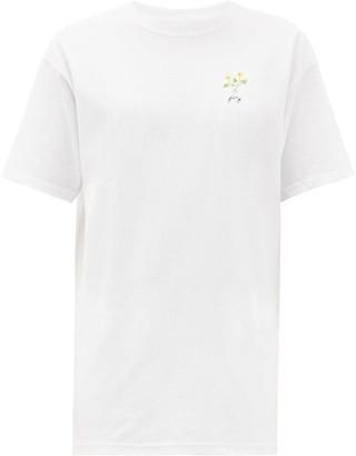 Raey X Cressida Jamieson Joy-embroidered T-shirt - White