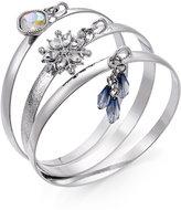 INC International Concepts 3-Pc. Silver-Tone Crystal Bangle Bracelet Set, Only at Macy's