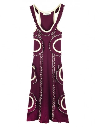 Mulberry Burgundy Synthetic Dresses