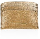 Burberry Metallic Calf Leather Credit Card Case