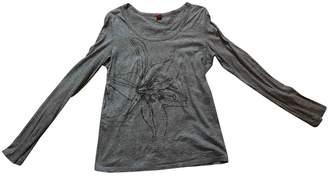 HUGO BOSS Grey Cotton Top for Women