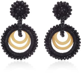Bibi Marini Sundrop Gold-Plated, Bead and Silk Earrings