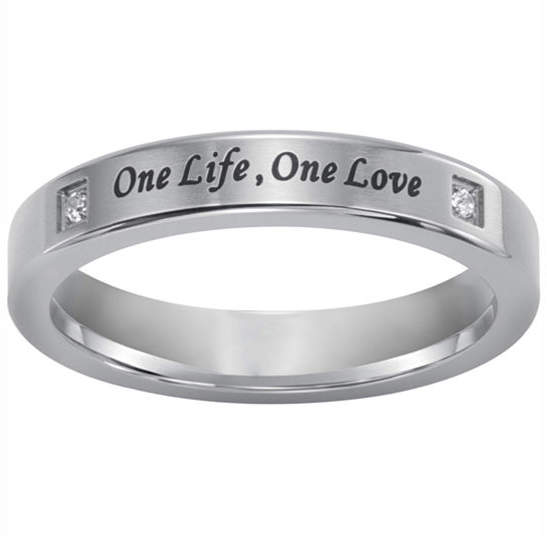 JCPenney MODERN BRIDE One Life, One Love Silver Ring w/Diamond Accent