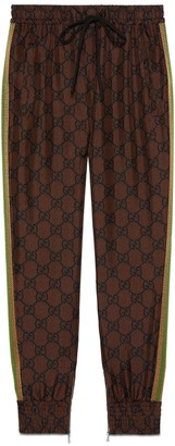 Gucci GG Supreme print silk trousers