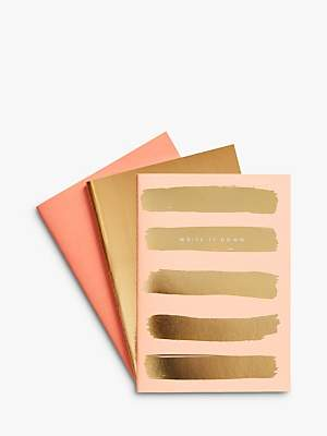 kikki.K A5 Essential Metallic Notebooks, Set of 3