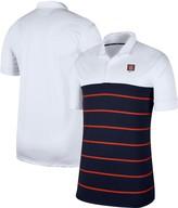 Nike Men's White/Navy Syracuse Orange Striped Polo