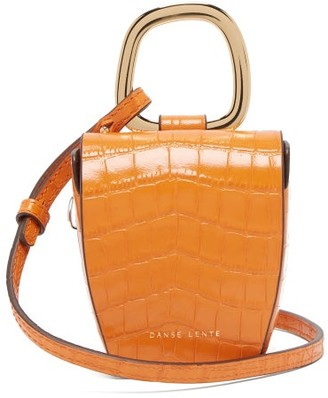 Danse Lente Pablo Crocodile-effect Leather Cross-body Bag - Womens - Orange