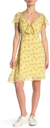 Line & Dot Jayne Floral Front Tie Dress