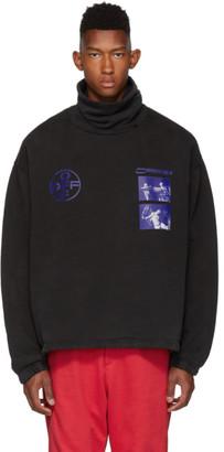 Off-White Black and Blue Hardcore Caravaggio Funnel Neck Sweatshirt