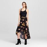 Xhilaration Women's Wrap Maxi Skirt Black Juniors') - Black
