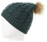 Charlotte Russe Pom Pom Cable Knit Beanie