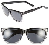 Ted Baker Men's 56Mm Polarized Retro Sunglasses - Black Fade