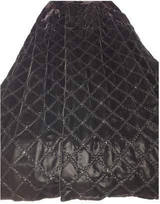 Loewe Black Velvet Skirt for Women Vintage