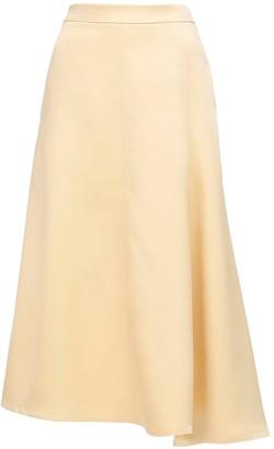 Jil Sander Satin A Line Midi Skirt