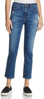 AG Jeans Isabelle Straight Crop Jeans in 8 Year Infamy