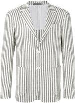 Z Zegna striped blazer - men - Silk/Cotton/Cupro - 48
