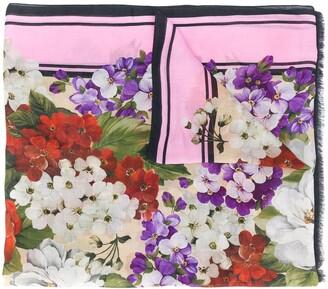 Dolce & Gabbana floral-print scarf