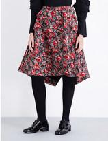 Comme des Garcons Tiered floral-jacquard skirt