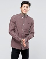 Fred Perry Shirt In Tri Color Check In England Red In Slim Fit