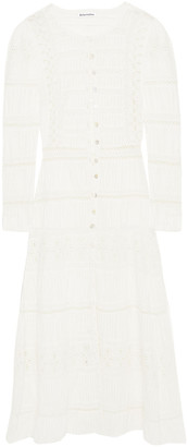 Reformation Elsie Lace-trimmed Broderie Anglaise Cotton Midi Dress