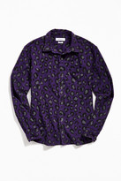 Urban Outfitters UO Animal Print Flannel Button-Down Shirt