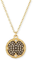 Armenta Old World Pavé; Diamond Disc Pendant Necklace
