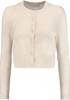 Tory Burch Simone cropped merino wool cardigan