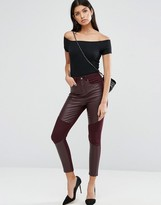 Asos Skinny Pants with Coated Front Panels