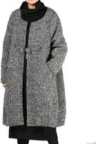 Mordenmiss Women Loose One-Chinese Frog Button Wool Coat XL