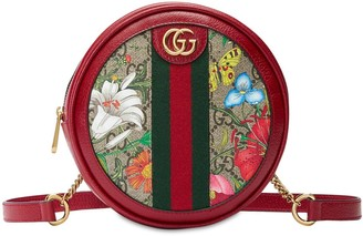 Gucci Ophidia Flora Gg Supreme Round Backpack