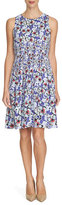 Cynthia Steffe Floral-Print Fit-&-Flare Dress, Blueberry