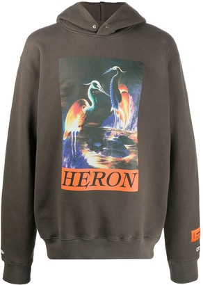 Heron Preston Graphic Print Cotton Hoodie