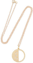 Andrea Fohrman Half Moon Phase 14-karat Gold Diamond Necklace - one size